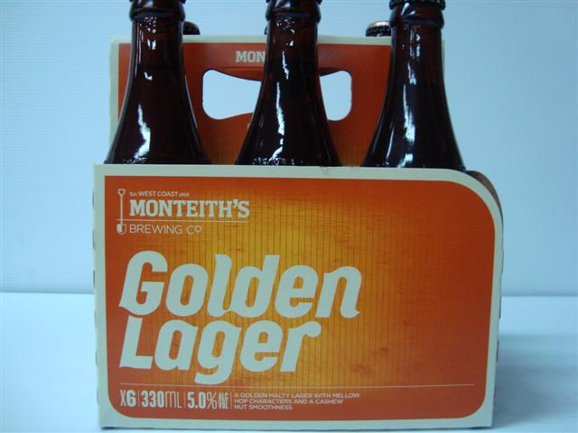 Monteith's Golden Lager 5% Alc Vol